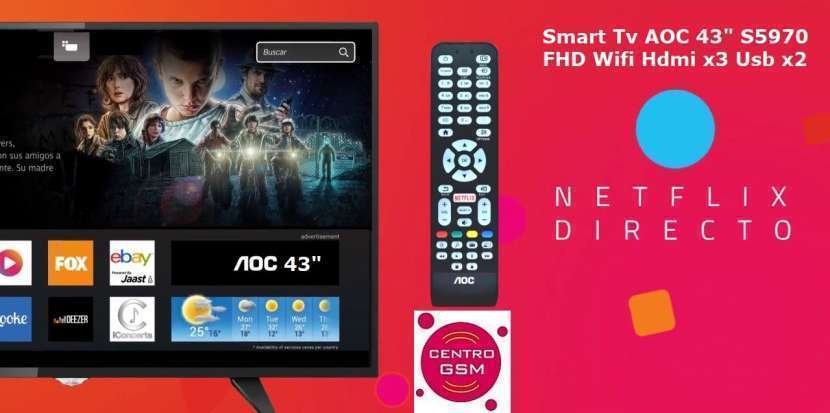 Smart TV AOC 43 pulgadas nuevas en caja - 0