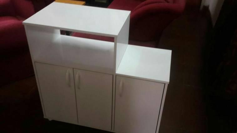 Mueble para horno y microondas ds for Mueble horno y microondas