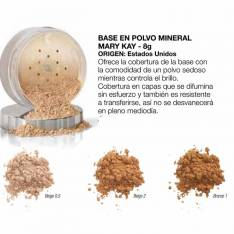 Base en polvo mineral Mary kay