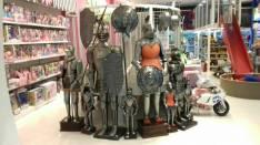 Caballeros medievales tres tamaños