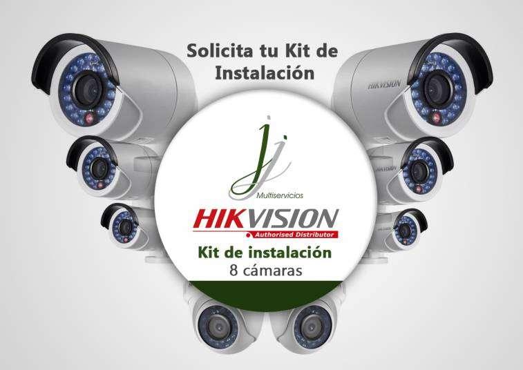 Kit De 8 Camaras Hikvision con Instalacion - 0