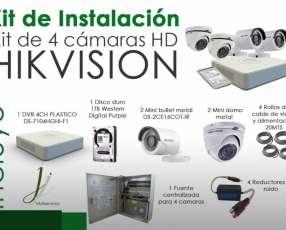 Kit CCTV de 4 cámaras Hikvision con instalación