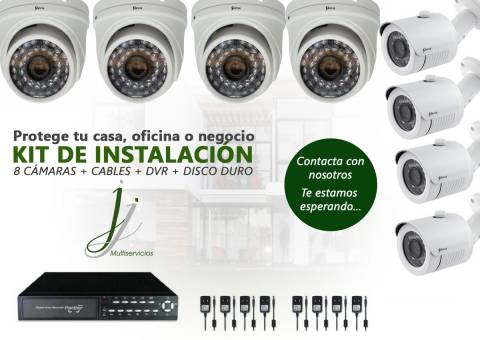 Kit de CCTV - Protege tu casa oficina o negocio