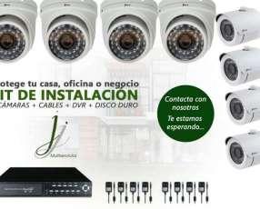 Kit de CCTV para casa oficina o negocio