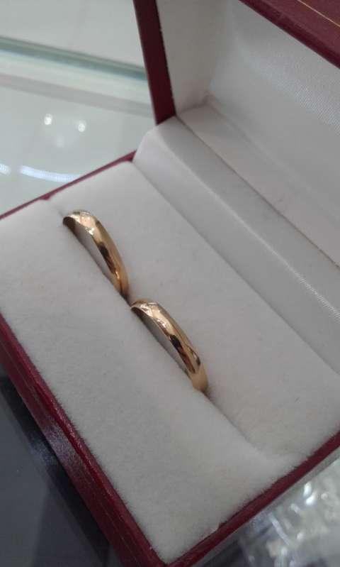 Par de anillos de oro 18 kilates