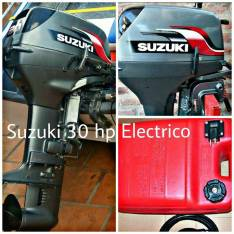 Motor Suzuki 30 HP con Comando y Tanque Impecable