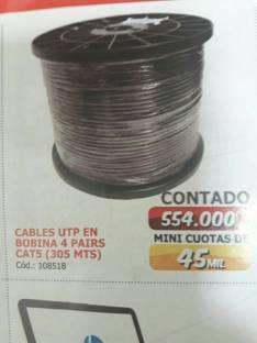 Cables utp en bobina