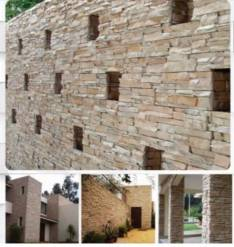 Revestimiento en piedra artificial cementicia