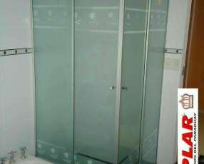 Box para baño de vidrio blindex arenados