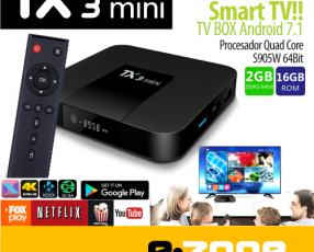 Convertidor smart tv Android 7.1 2 gb+16 gb TX3 mini