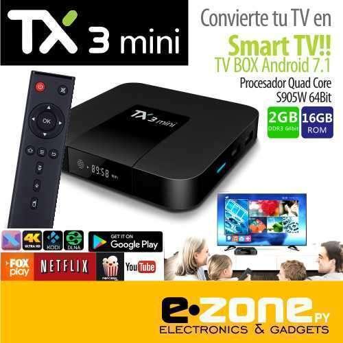 Convertidor SMART TV TX3 mini - Android 7.1 - 2+16 GB - 0