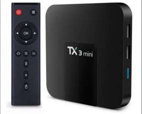Convertidor smart tv Android TX3 + 400 canales IPTV