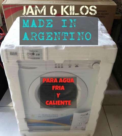 Lavarropas automática Jam de 6 Kg