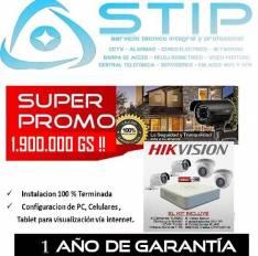 Intalacion Basica de 04 Camaras Turbo HD Hickvision