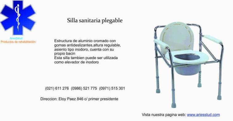Silla sanitaria plegable ariessalud for Silla odontologica