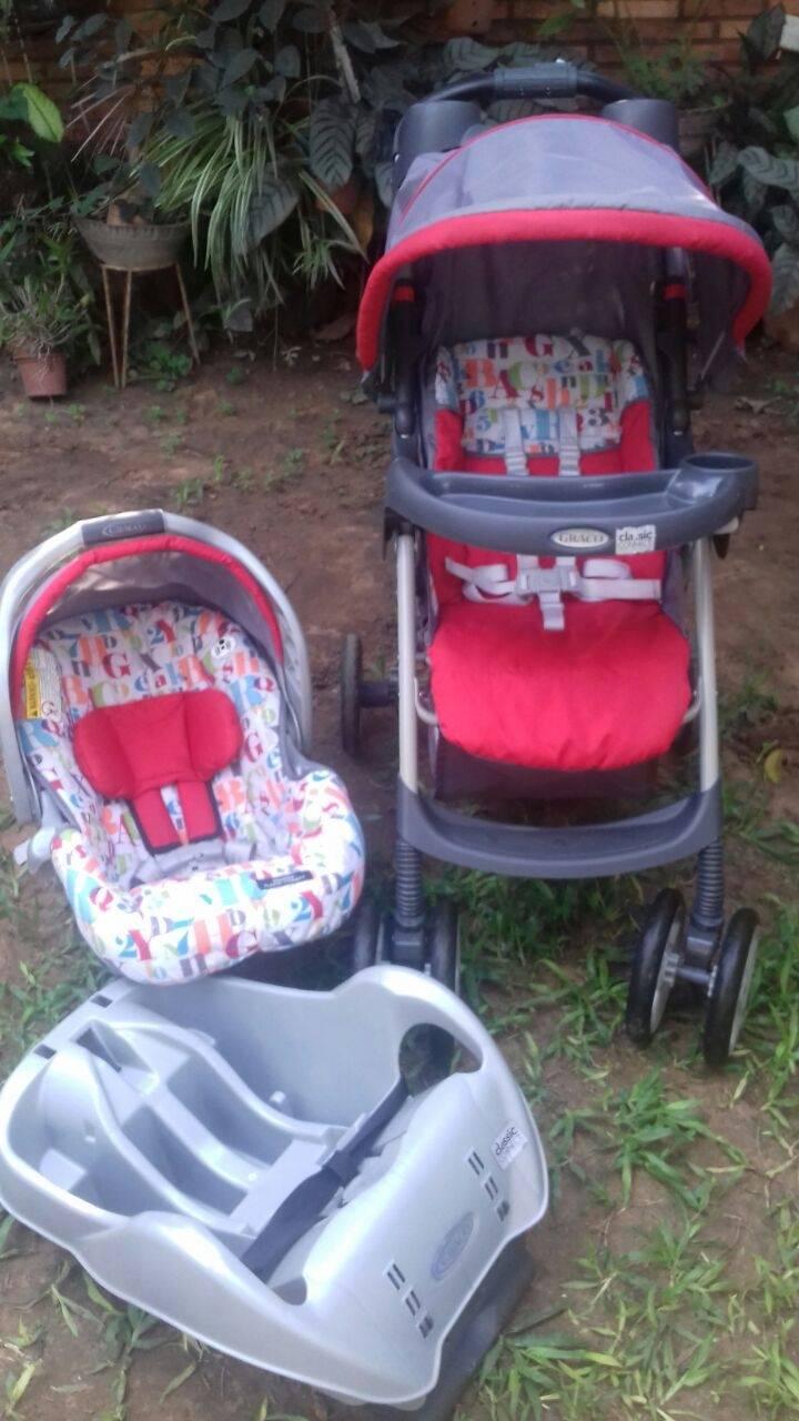 Carrito y asiento mas base para el auto graco para bebe for Asiento para ninos auto