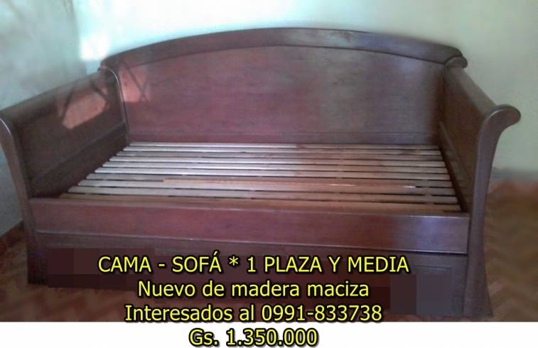 Sof cama de una plaza y media insumos for Sillon cama de una plaza y media