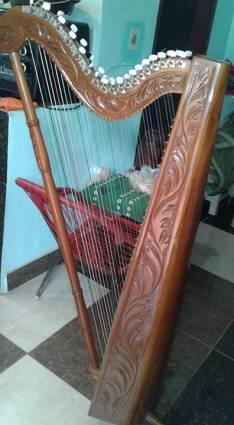 Arpa tallada de 36 cuerdas