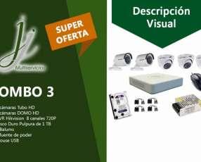 Kit 3 de CCTV Hikvision