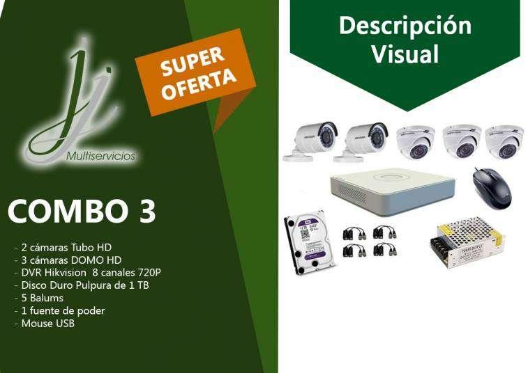 Kit 3 de CCTV Hikvision - 0