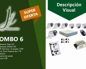 Kit 6 de CCTV Hikvision