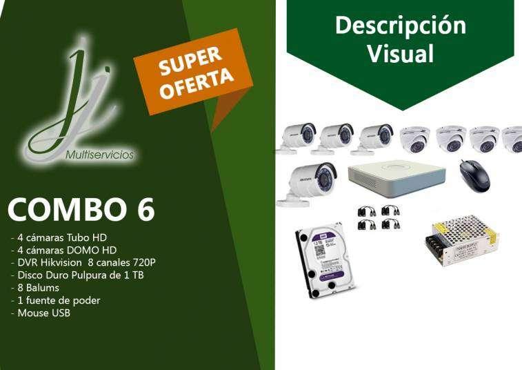 Kit 6 de CCTV Hikvision - 0