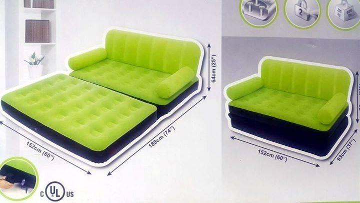 Sofa cama inflable macro sys tem for Sofa cama inflable