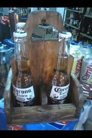 Caja de cerveza rústica de palets