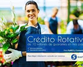 Crédito rotativo para Micro empresas en todo el País