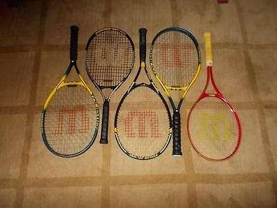raquetas de tenis usadas en excelente estado