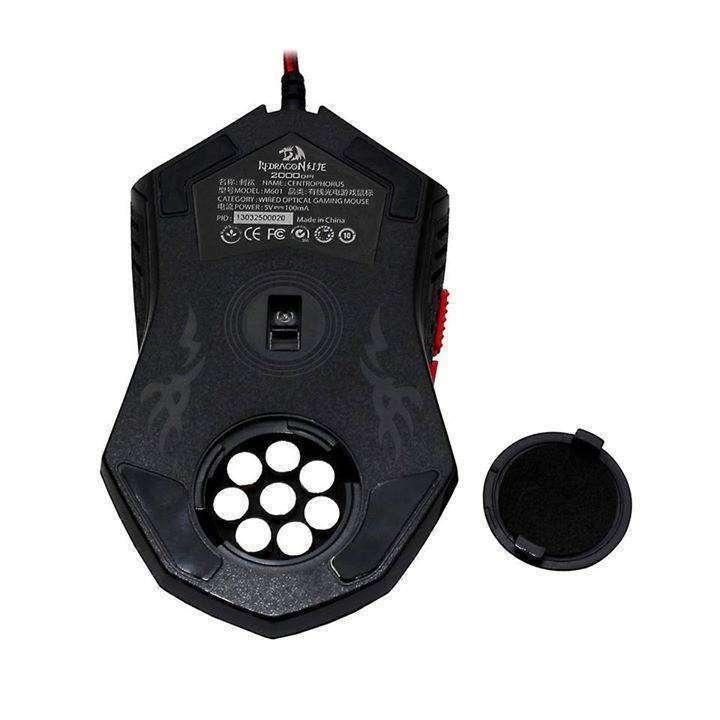 Mouse Gamer Redragon M601 con leds rojos 6 botones - 3