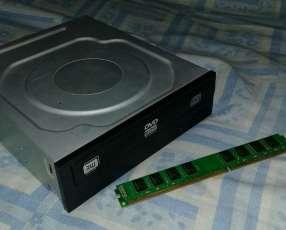 Grabador Lector de DVD y RAM 4 gb ddr3