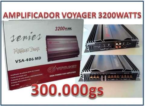 Amplificador de sonido voyager 3200 watts