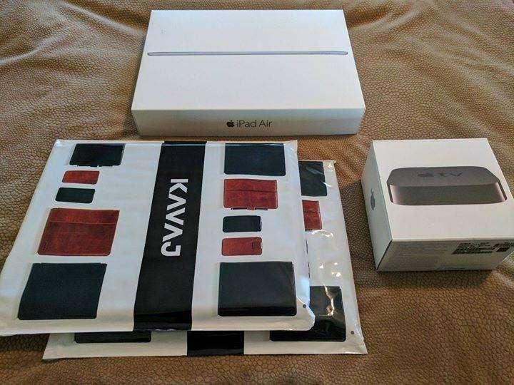 iPad Air 2 128GB en caja, con 2 forro inteligente de cuero. - 1