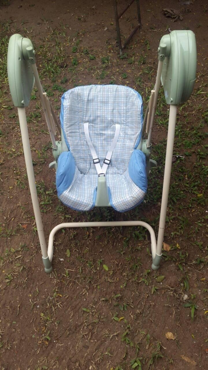 Hamaca mecedora y silla para comer beb celita for Silla mecedora para bebe