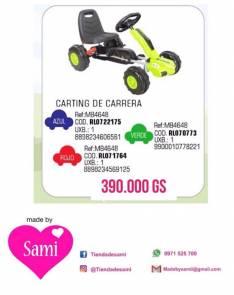 Karting a pedal hasta 36 kilos