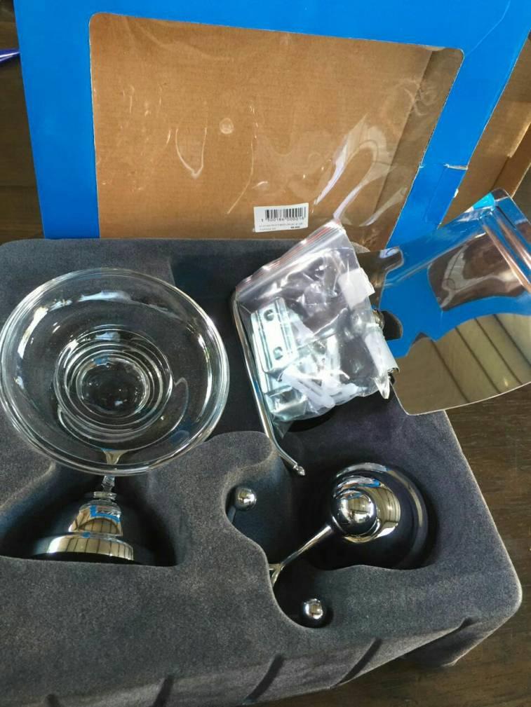 Kit de accesorios de metal cromado para ba o patio de for Kit accesorios bano