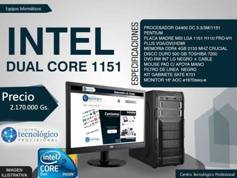 PC Intel Dual Core 1151