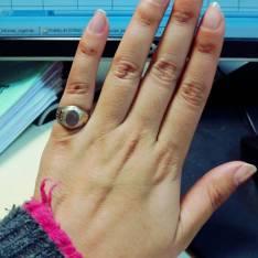 Mini anillo de plata