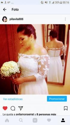 Vestido de novia confeccionado por Gladys Gauto