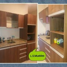 Muebles de cocina con granito por metro líneal