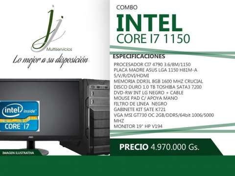 Computadora core I7 1150
