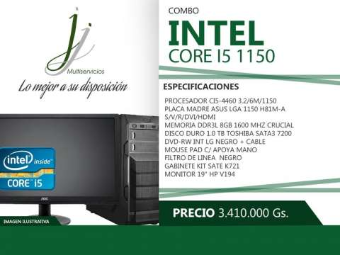 Computadora core I5 1150