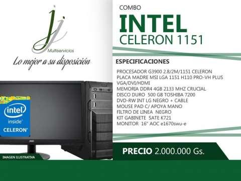 Computadora INTEL CELERON 1151