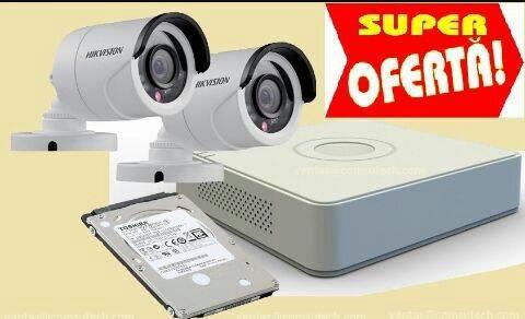 Kit 2 cámaras hd Hikvision