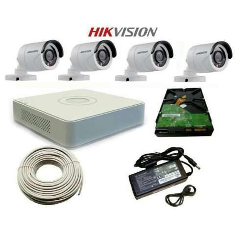 Kit de 2 cámaras HD DVR Hikvision
