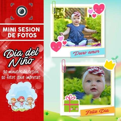 Mini sesión de fotos día del niño