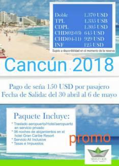 Vacaciones en Cancún 2018