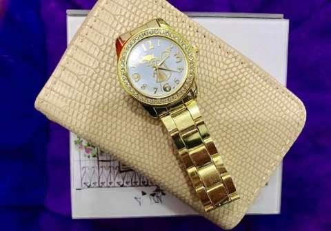 Billeteras con reloj