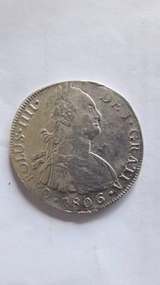 Moneda 8 reales Lima 1806